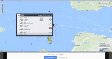 Морские суда карта