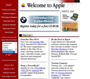 apple, старый дизайн сайта