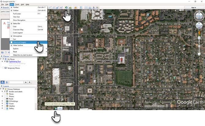Google Earth исторические снимки