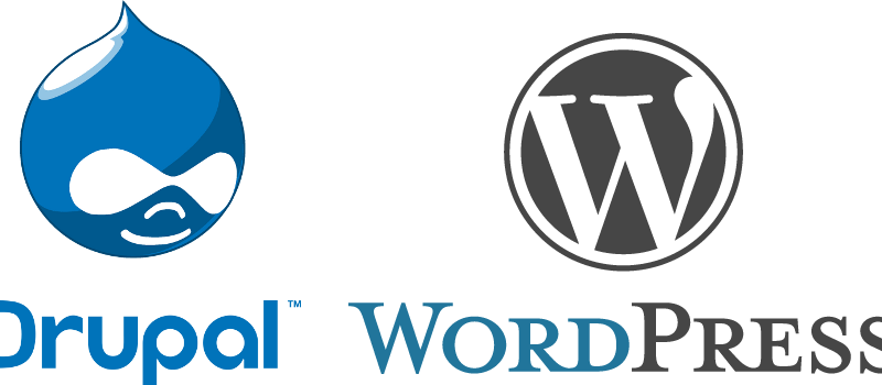 drupal, wordpress
